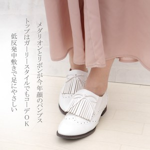 Wide 3E Quilt Ribbon Ford Shoes Pumps Low Rebounding Sock Lining