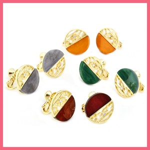 Watermark Color Circle Motif Earring