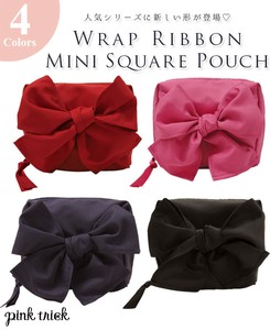 Wrap Ribbon Square Pouch