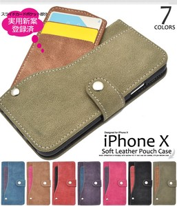 Smartphone Case iPhone Ride Card Pocket Leather Case