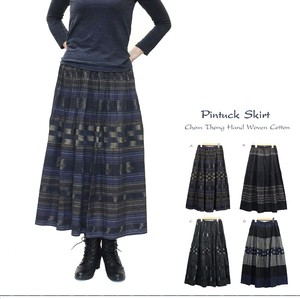 Weaving Cotton Waist Tuck Skirt