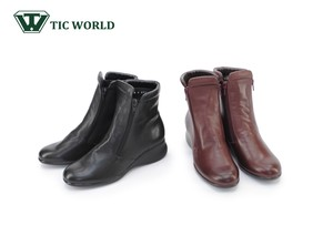 A/W New Color 4E Boots Comfort Double Fastener Short Boots 4E