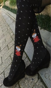Scandinavia Finland Cotton Tights The Moomins Series Dot