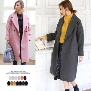 2017 A/W Double Button Chesterfield Coat Outerwear