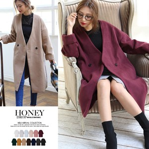 2017 A/W Double Button Non-colored Chesterfield Coat Outerwear