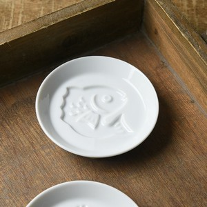 Play White Porcelains Soy Sauce Plate MINO Ware