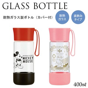 SKATER Heat-Resistant Glass Bottle Cover Attached B4 Mick Hello Kitty