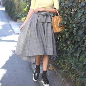 S/S Checkered Cut Flare Skirt