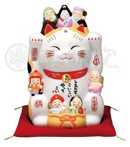 Happiness Ornament Interior Seven Deities Of Good Luck Beckoning cat Size 6
