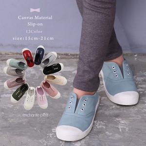 Canvas Material Slippon Shoes 12 Colors Kids Girls Boys