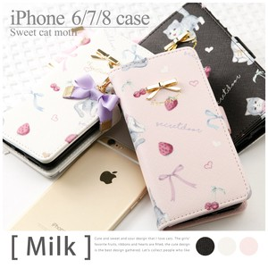 Cat Design iPhone Case Milk