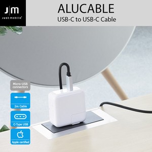【USB 2.0 Type-C ケーブル】AluCable USB-C to USB-C Cable 2M 高速充電 データ転送対応