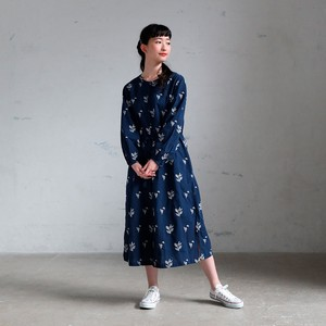 Linen 2018 S/S One-piece Dress Lily Embroidery