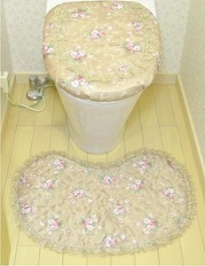 Rose Toilet Mat
