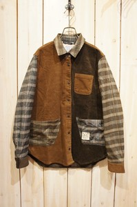 2017 A/W Checkered Switching Shirt