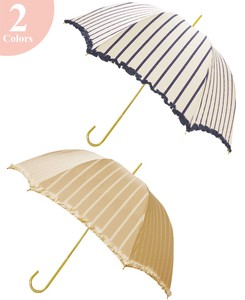Unisex Stick Umbrella UV Cut Light-Weight Stripe UV Cut