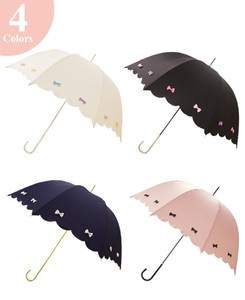 Unisex Stick Umbrella UV Cut Light-Weight Colorful Ribbon UV Cut