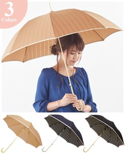 Unisex Stick Umbrella UV Cut Light-Weight One push Umbrellas Stripe UV Cut