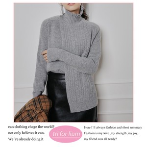 2017 A/W Deformation Design High Neck Sweater