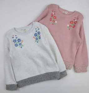 Knitted Raised Back Flower Sweatshirt