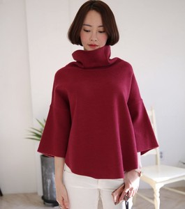 2017 A/W Ladies Round Turtle Neck Knitted