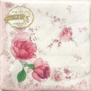 Paper Napkin Purple Rose