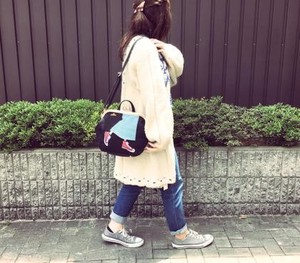 Long Skirt Gamaguchi 3WAY Backpack