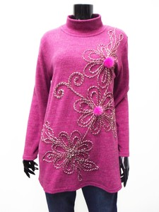 Flower Embroidery High Neck Tunic