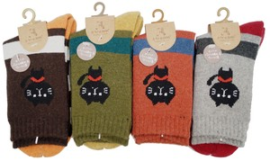 A/W Ladies One Point Cat Pile Crew Socks
