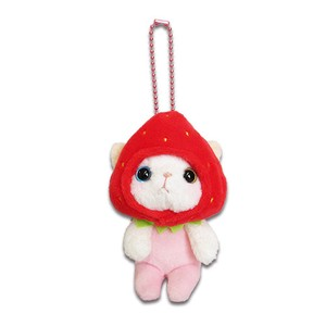 Cat Strawberry Soft Toy Mascot