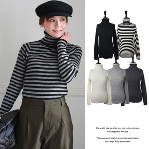Special Ply A/W Plain Border Turtle Neck Knitted Pullover