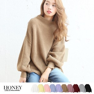 2017 A/W Balloon Knitted Neck Top Big