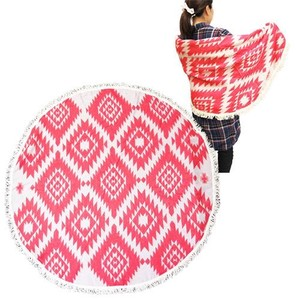Round Blanket Red Diamond
