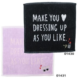 Jacquard Mini Towel One Point Embroidery