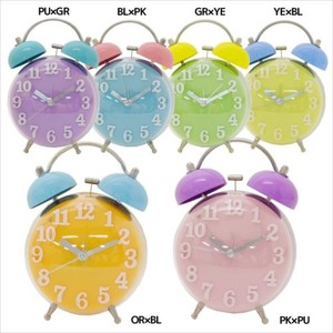 Clear Twin Clock Plus Pop Series
