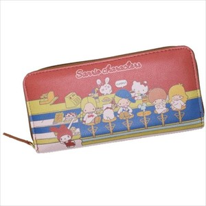 Sanrio Character Round Fastener Long Wallet Synthetic Leather Denim