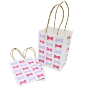 Craft Handbag Paper Bag 3 Pcs Set Ribbon