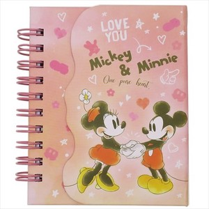Mick Minnie Magnet Attached Ring Memo Pad