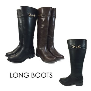Gold Lip Ring Long Boots