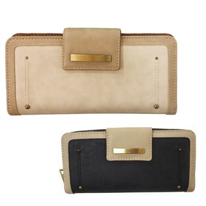Natural Bi-Color Round Long Wallet
