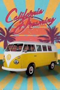 ■ポスター■610X915mm★VW Camper Cali Retro