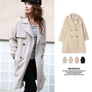 S/S Twill Long Trench Coat Light Outerwear Outerwear