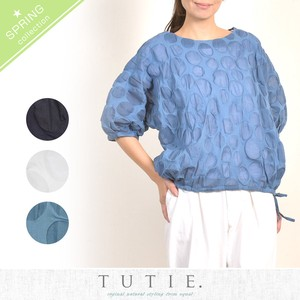 Cotton Salt Dot Dolman Blouse