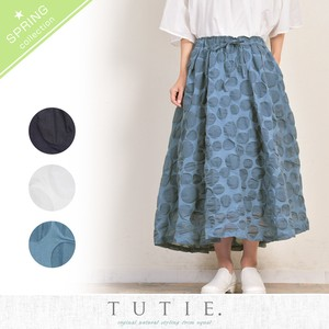 Cotton Salt Dot Gather Skirt