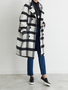2017 A/W Career Double Rest Lining Kilting Chesterfield Coat