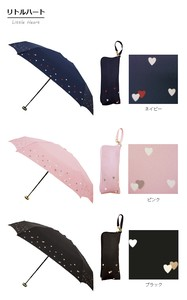 5 Steps Folding Umbrella Little Heart Unisex Uv Cut Light-Weight Water-Repellent