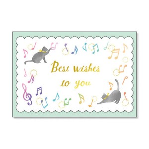 Envelope Attached Message Card Cat Musical Note