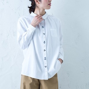 Early Spring Front Embroidery Shirt Tunic