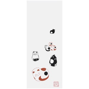 Hand Towel Walk Japanese Craft Cat Miscellaneous goods