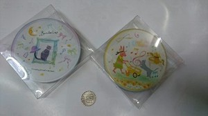 Glass Music Coaster 4 Pcs Set Cat Rabbit